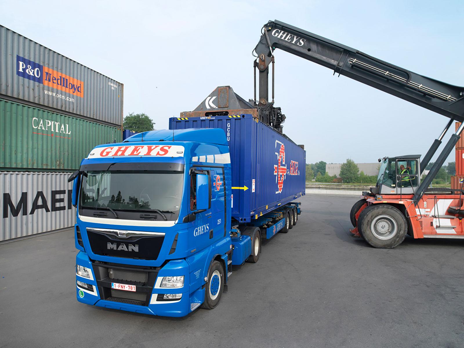 Container transport - TRANSPORT COMPANY GHEYS (BELGIUM)
